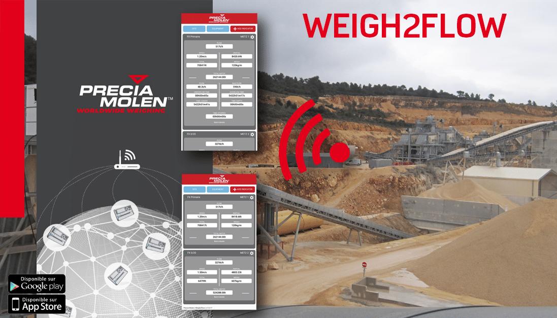 Precia Molen weigh2flow applicatie